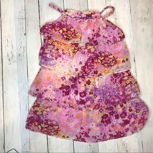 GAP Tiered Pink Floral Sleeveless Toddler Dress